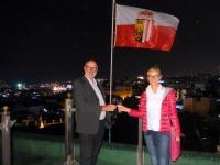 2016 11 20 Jerusalem Dach des Österr Hospitz mit OÖ Fahne