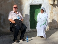 2016 11 21 Jerusalem Via Dolorosa Pause bei den Äthiopiern