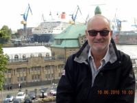 2016 06 10 Blick auf die Queen Mary 2 im Trockendock im Hamburger Hafen