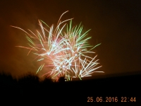 Privates Feuerwerk nach dem Konzert
