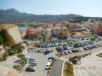 2016 05 27 Calvi Blick von der Festung zu unserem Hotel