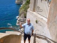 2016 05 30 Bonifacio Stufen zum Meer von der Oberstadt