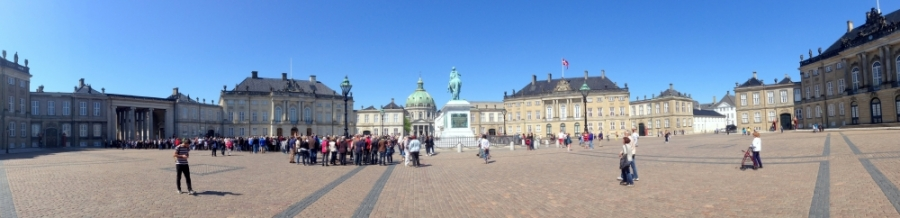 2016 05 12 Kopenhagen Schlosshof Amalienborg