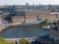 2016 05 09 Stockholm Königliches Schloss von oben