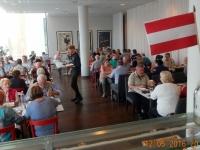 2016 05 12 Malmö Österreichfahne beim Buffet im Hotel