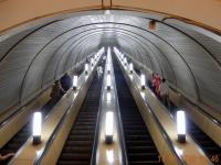 Tief gehts hinunter zur U_Bahn