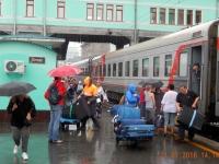 Ankunft in Novosibirsk bei strömenden Regen