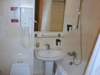Badezimmer im Hotel Siberia nur zum frisch machen und duschen