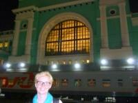 Novosibirsk Bahnhof vor der Weiterfahrt
