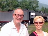 2016 07 24 Baikalseefahrt Zugstopp in Polowinnaja