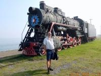 Alte Dampflok in Port Baikal