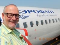 Aeroflotflug nach Moskau