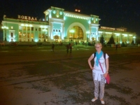 2016 07 21 Novosibirsk Bahnhof vor der Weiterfahrt