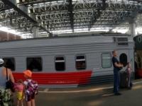 2016 07 18 Moskau Bahnhof Kasan vor der Abfahrt