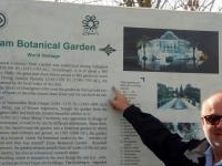 Persische Gärten Schiras Eram Garten  Tafel