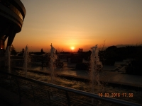 2016 03 10 Sonnenuntergang beim Milad Turm