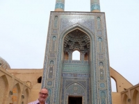 2016 03 14 Yazd Freitagsmoschee mit höchstem Eingangsportal im Iran