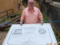 2016 02 14 Kenia Fort Jesus in Mombasa UNESCO  Tafel