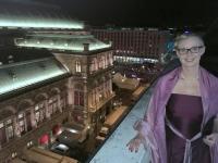 Vom Dach des OÖ Haus Blick auf die Oper