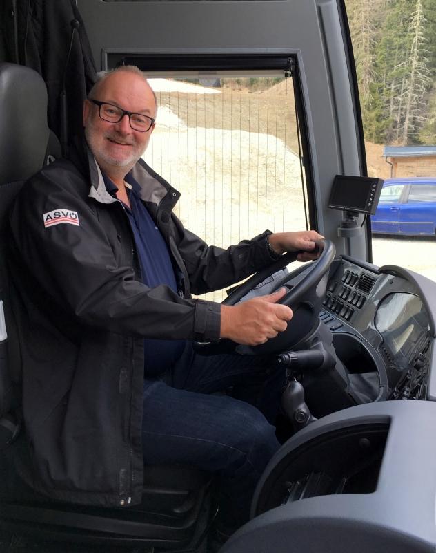 Erste Busfahrt für Gerald Stutz