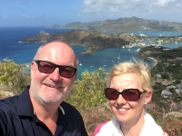 2017 03 19 Antigua Blick auf English Harbour vom Dow Hill Fort George