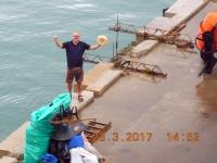 2017 03 23 Cartagena Kolumbien Wasserentnahme Karibisches Meer