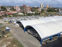 2017 03 24 Colon Panama 50 Busse warten schon