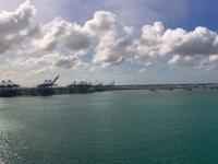 2017 03 24 Colon Panama Einfahrt in den Hafen 1