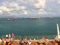 2017 03 24 Colon Panama Einfahrt in den Hafen 3
