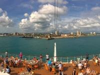 2017 03 24 Colon Panama Einfahrt in den Hafen