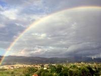 2017 04 28 Regenbogen kurz vor dem Ziel
