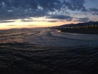 2017 04 29 Strand von Lido di Camaiore mit Sonnenuntergang