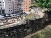 Triest Römisches Theater von oben