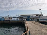Ausflugsschiff liegt in Portoroz