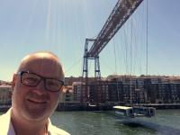 2017 06 05 Biscaya Brücke in Bilbao UNESCO Weltkultuerbe