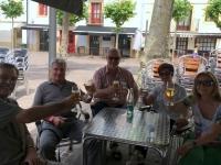 2017 06 08 Hondarribia Stärkung im Biergarten