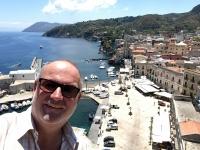 2017 06 12 Insel Lipari Blick von der Burg auf den Hafen