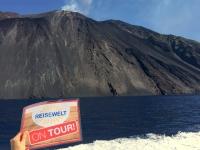 2017 06 12 Insel Stromboli mit aktiven Vulkan Reisewelt on Tour
