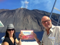 2017 06 12 Insel Stromboli mit aktiven Vulkan und RL Team Reisewelt on Tour