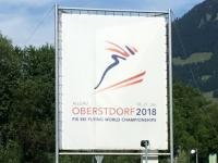 Werbung für die Schiflug WM in Oberstdorf 2018