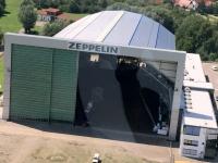 2017 08 01 Zeppelinfahrt Friedrichshafen am Bodensee Hangar für zwei Zeppelin