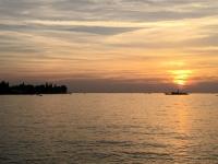 Beginn Sonnenuntergang