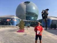 2017 08 27 Astana EXPO größte selbsttragende Kugel der Welt FC Bayern