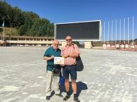 2017 08 31 Almaty Medeo weltberühmtes Eisstadion ASVOÖ mit Josef