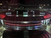 2017 08 28 Astana EXPO Kugel Nachtfoto