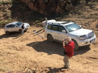 2017 08 30 Charyn Canyon Abschleppen von Touristenauto