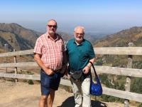 2017 08 31 Almaty Blick vom Shymbulak Resort mit Josef