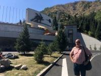2017 08 31 Almaty Medeo weltberühmtes Eisstadion aussen