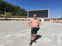 2017 08 31 Almaty Medeo weltberühmtes Eisstadion innen