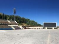 2017 08 31 Almaty Medeo weltberühmtes Eisstadion